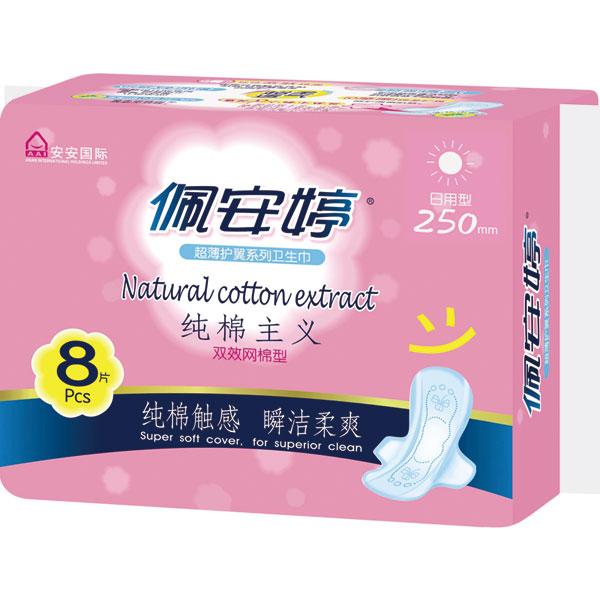 纯棉主义双效网棉日用卫生巾PM01068