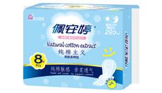 草本纯棉主义亲肤棉柔夜用卫生巾PC02076