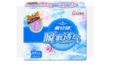 瞬爽透气直条包20片日用柔网卫生巾PT01078